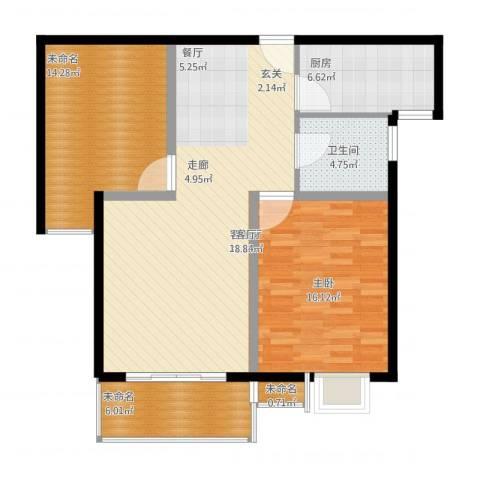 国际花都蓝蝶苑1室1厅1卫1厨112.00㎡户型图