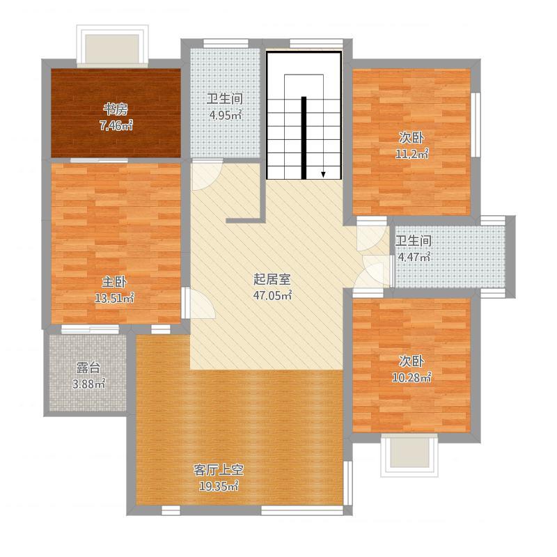 安泰·海天艺墅独栋B-5室0厅0卫-约330.76M²二层