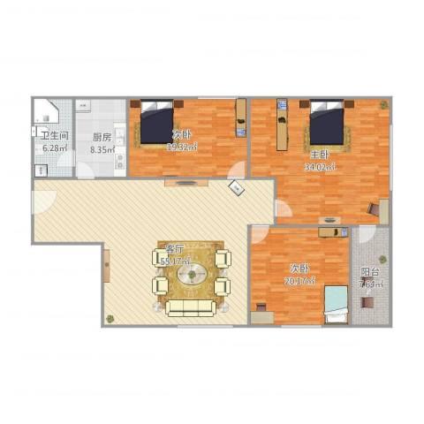 鸿业大厦24043室1厅1卫1厨199.00㎡户型图