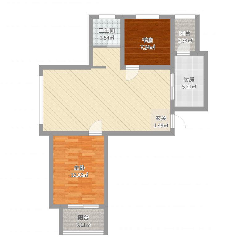 安居·尚美城2#-A-2室2厅1卫-约88.6M²