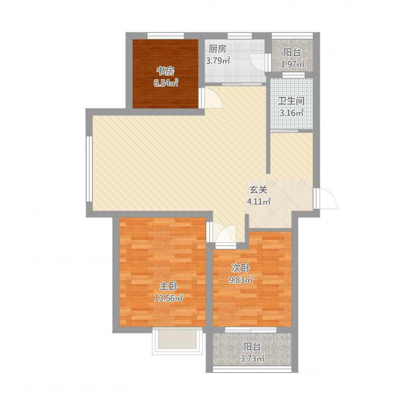 安居·尚美城7#-A-3室2厅1卫-约108.9~110.9M²