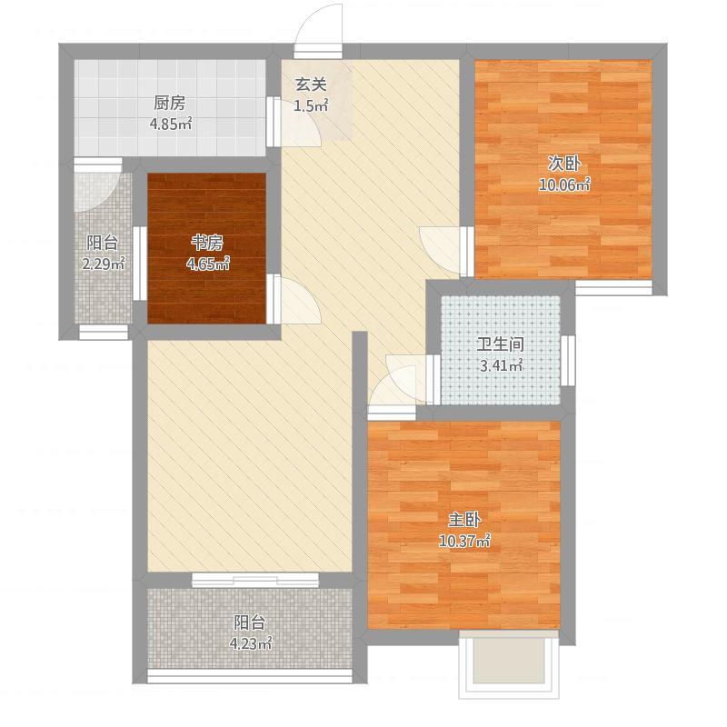 安居·尚美城7#-B-3室2厅1卫-约96.7M²