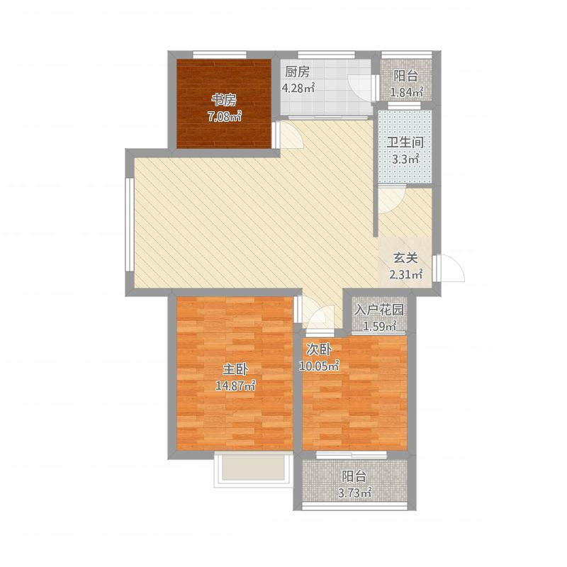 安居·尚美城10#—C1-3室2厅1卫-约117.8M²