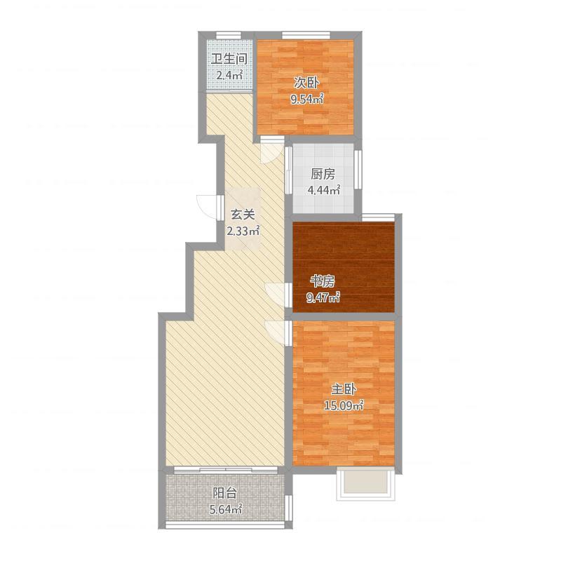 安泰·水晶城30#-3室2厅1卫1阳台-104M²