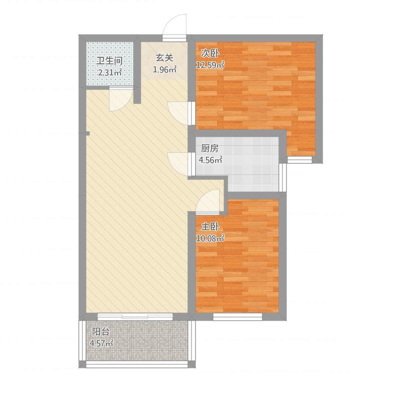 安泰·水晶城32#-2室2厅1卫1阳台-89M²
