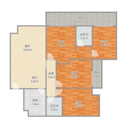 东方顺景-1栋18044室1厅1卫1厨167.00㎡户型图