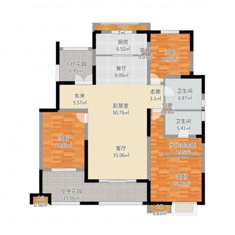 华润仰山・红叶林3室1厅5卫4厨202.00㎡户型图