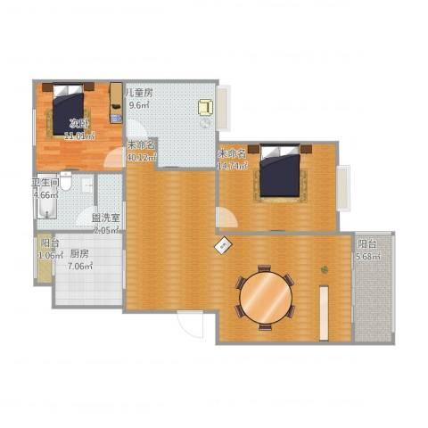德顺园2室1厅1卫1厨129.00㎡户型图