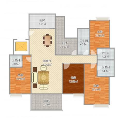 远洋城万象花园4室1厅4卫1厨211.00㎡户型图