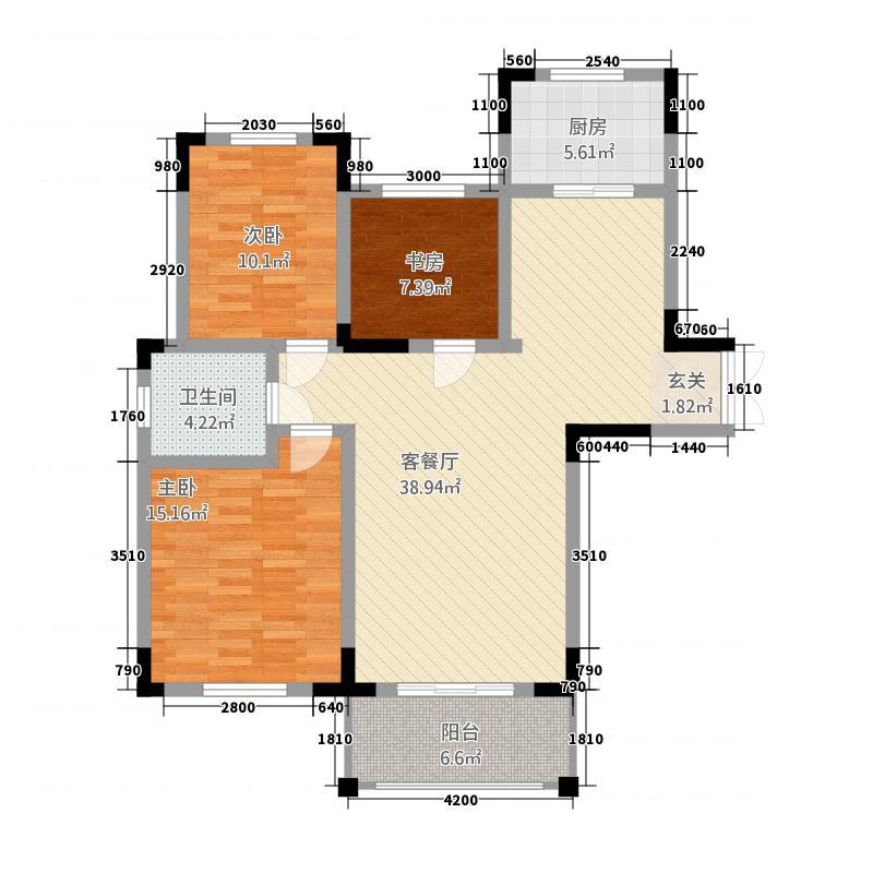 瑞景华庭4号楼西边户型
