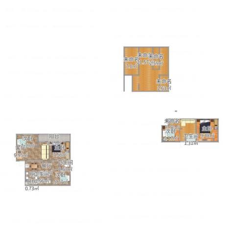 莲馨苑5室2厅3卫2厨145.00㎡户型图