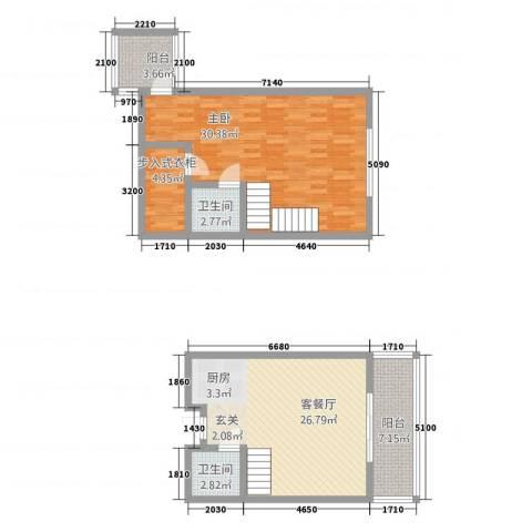 美瑞森林故事1室1厅2卫0厨112.00㎡户型图