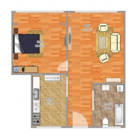 共康六村1室1厅1卫1厨88.00㎡户型图