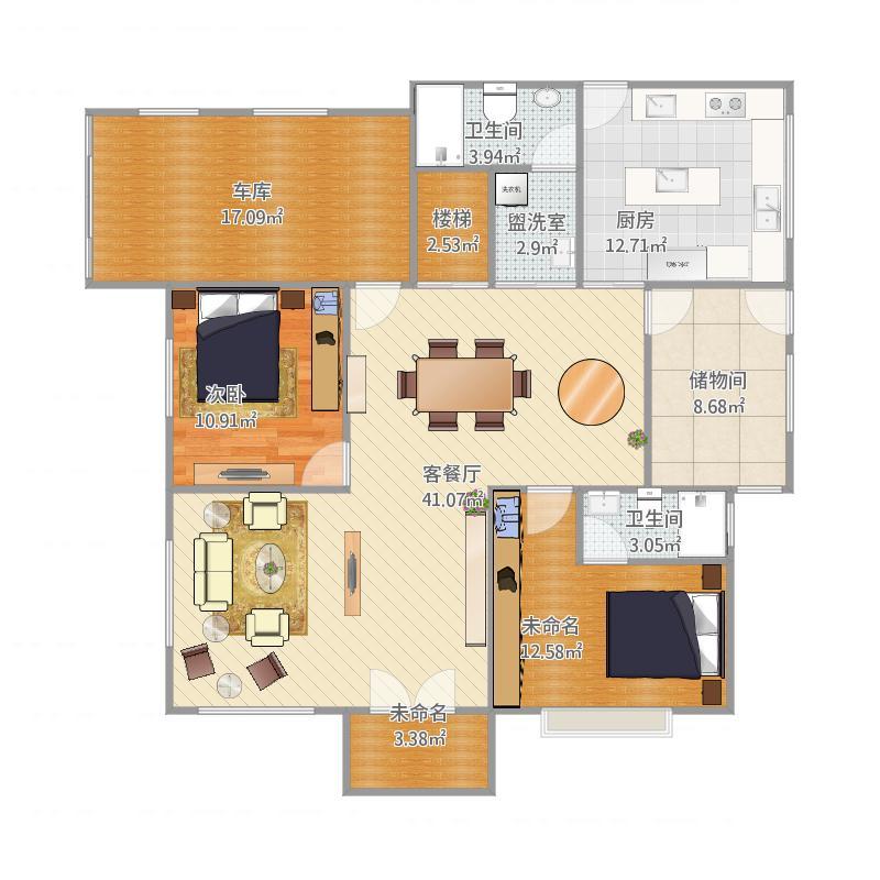 我的家设计一层平面