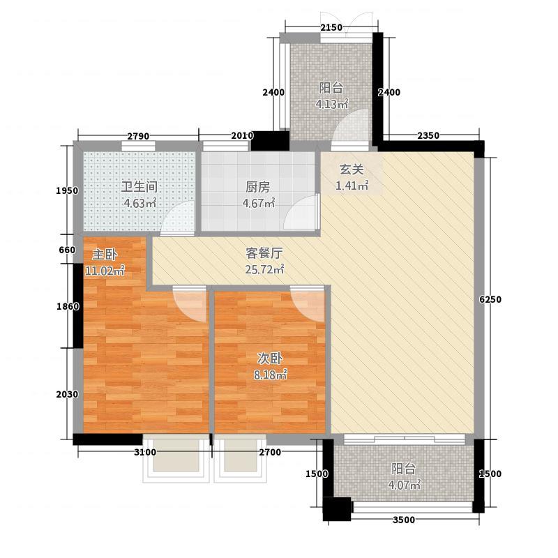 建亨・上东城7#-E1户型