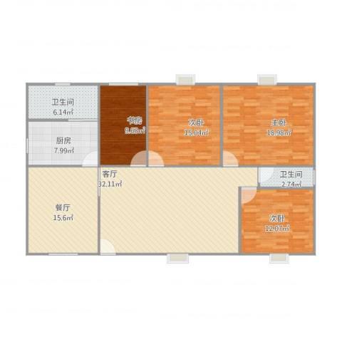 新余恒大城4室2厅2卫1厨160.00㎡户型图