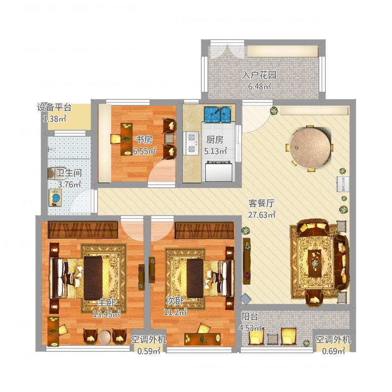瑞城名邸7#楼F1户型