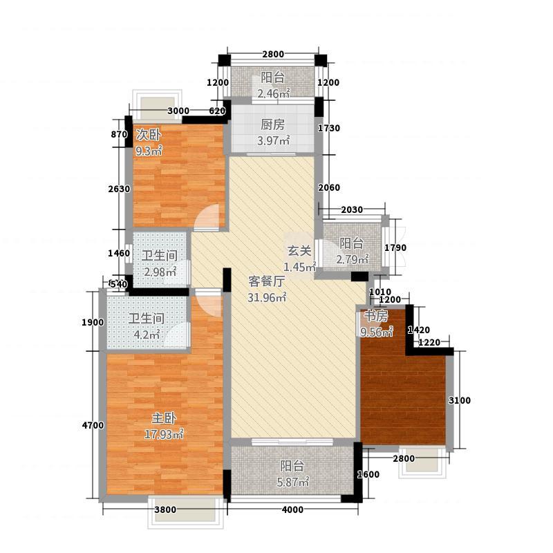 建亨・上东城3#B2(镜像)户型