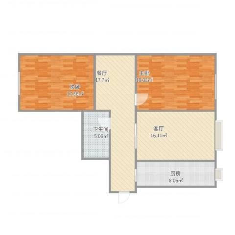 金环里2室2厅1卫1厨111.00㎡户型图