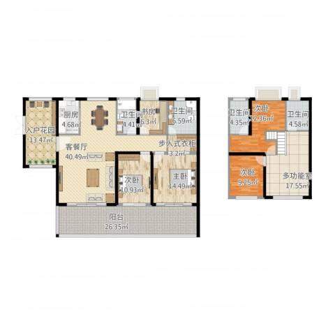 星河湾畅心园5室1厅5卫1厨253.00㎡户型图