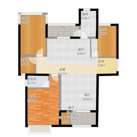 ECO城1室1厅5卫1厨146.00㎡户型图