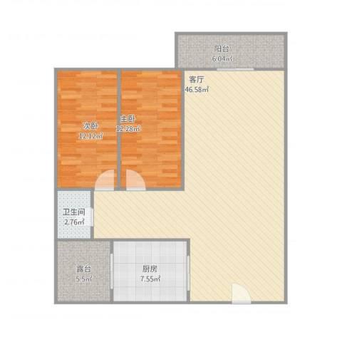 威斯广场峰景4座25032室1厅1卫1厨99.15㎡户型图