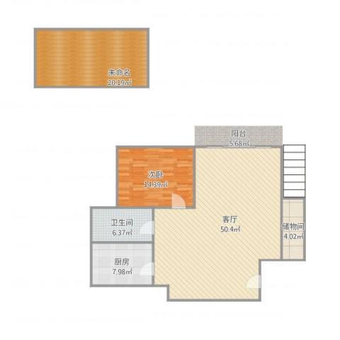 清溪花园1室1厅1卫1厨137.00㎡户型图
