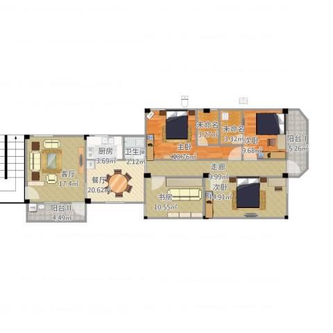 老人民医院宿舍4室2厅1卫1厨149.00㎡户型图