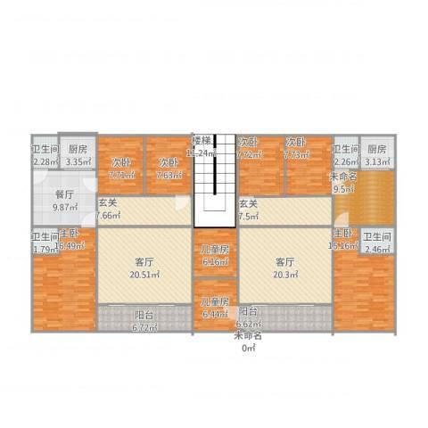 普宁市流沙西南山村8室3厅4卫2厨258.00㎡户型图