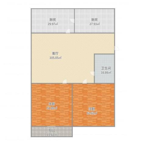 阳光舜城2室1厅1卫2厨306.19㎡户型图