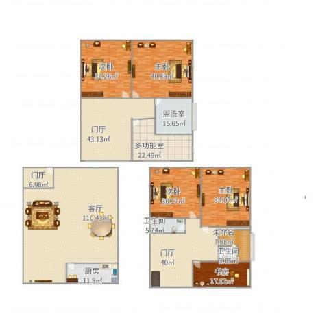 银河湾5室2厅2卫1厨554.00㎡户型图