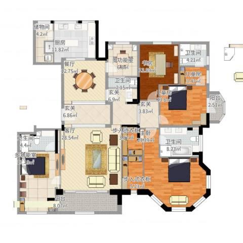 华润中央公园37#4室2厅4卫1厨274.00㎡户型图