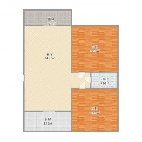 阳光舜城2室1厅1卫1厨162.41㎡户型图