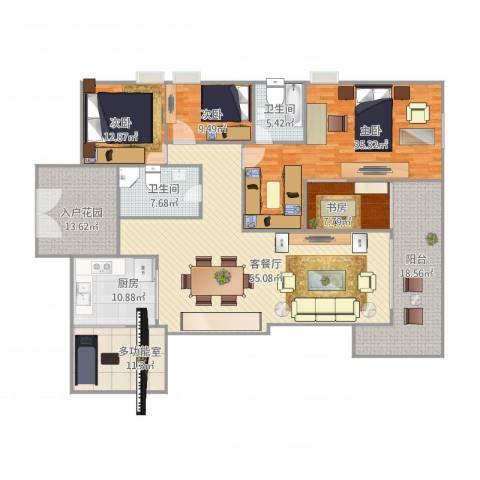 保利水城一号公馆4室1厅2卫1厨250.00㎡户型图