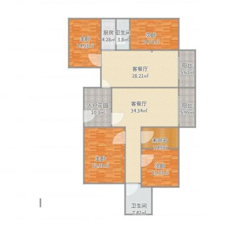 东方广场4室2厅2卫1厨231.00㎡户型图