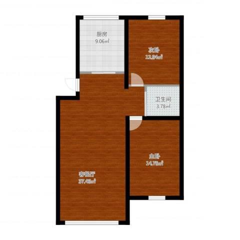 我的家园2室1厅1卫1厨108.00㎡户型图