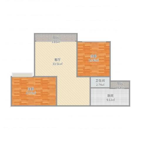 怡翠宏璟4座14022室1厅1卫1厨112.00㎡户型图