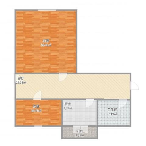 利民里2室1厅1卫1厨116.00㎡户型图