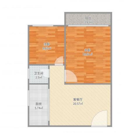东怡花园F区3座7032室1厅1卫1厨82.00㎡户型图