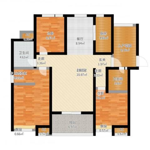 首创悦府3室1厅5卫1厨150.00㎡户型图