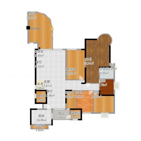 五岭国际12024室1厅5卫1厨298.00㎡户型图