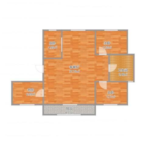 兰溪文苑3室1厅1卫1厨102.00㎡户型图