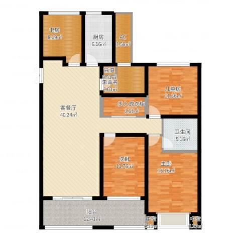 龙湖时代天街4室1厅3卫3厨178.00㎡户型图