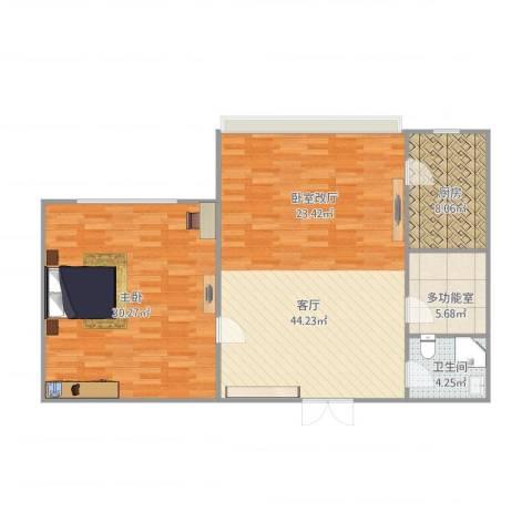 珠江骏景1室1厅1卫1厨122.00㎡户型图