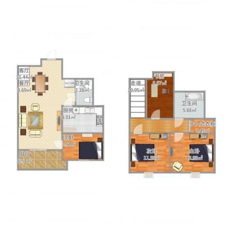 水木晶华苑4室1厅2卫1厨148.00㎡户型图