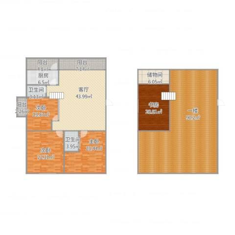 世纪康城4室1厅2卫1厨323.00㎡户型图