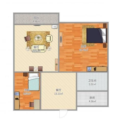 清联花园22室2厅1卫1厨109.00㎡户型图