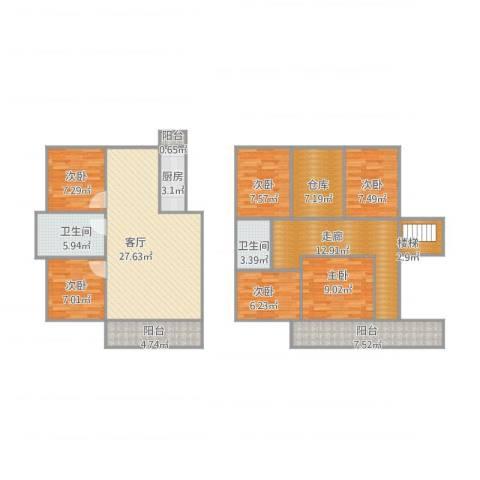 知音园6室1厅2卫1厨165.00㎡户型图