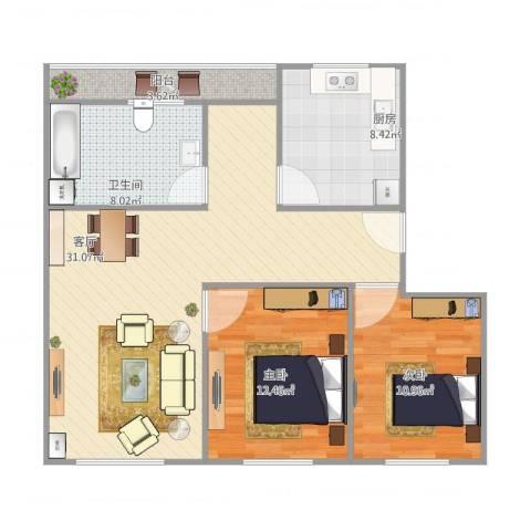 品翠苑16-5022室1厅1卫1厨80.34㎡户型图