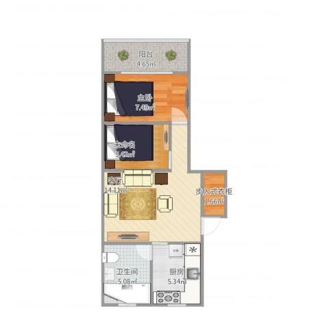 古美西路316弄小区1室1厅1卫1厨60.00㎡户型图